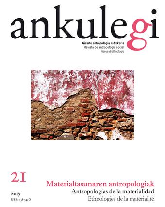 """Portada del número 21 de la revista """"Ankulegi""""."""