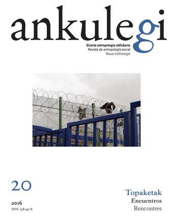 """Portada del número 20 de la revista """"Ankulegi""""."""