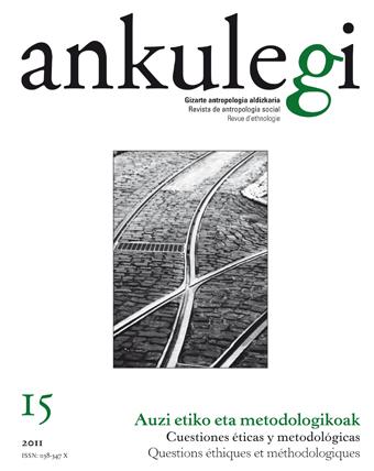 """Portada del número 15 de la revista """"Ankulegi""""."""